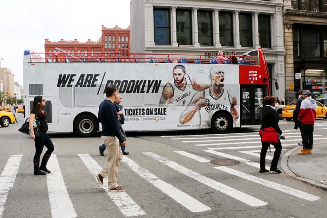 Brooklyn Nets 2014-15 Double Decker Bus